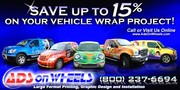 Save up to 15% on Vehicle Wraps Project!